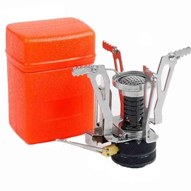 Mini Folding Gas Stove, Portable Furnace Cooking, Split Burners