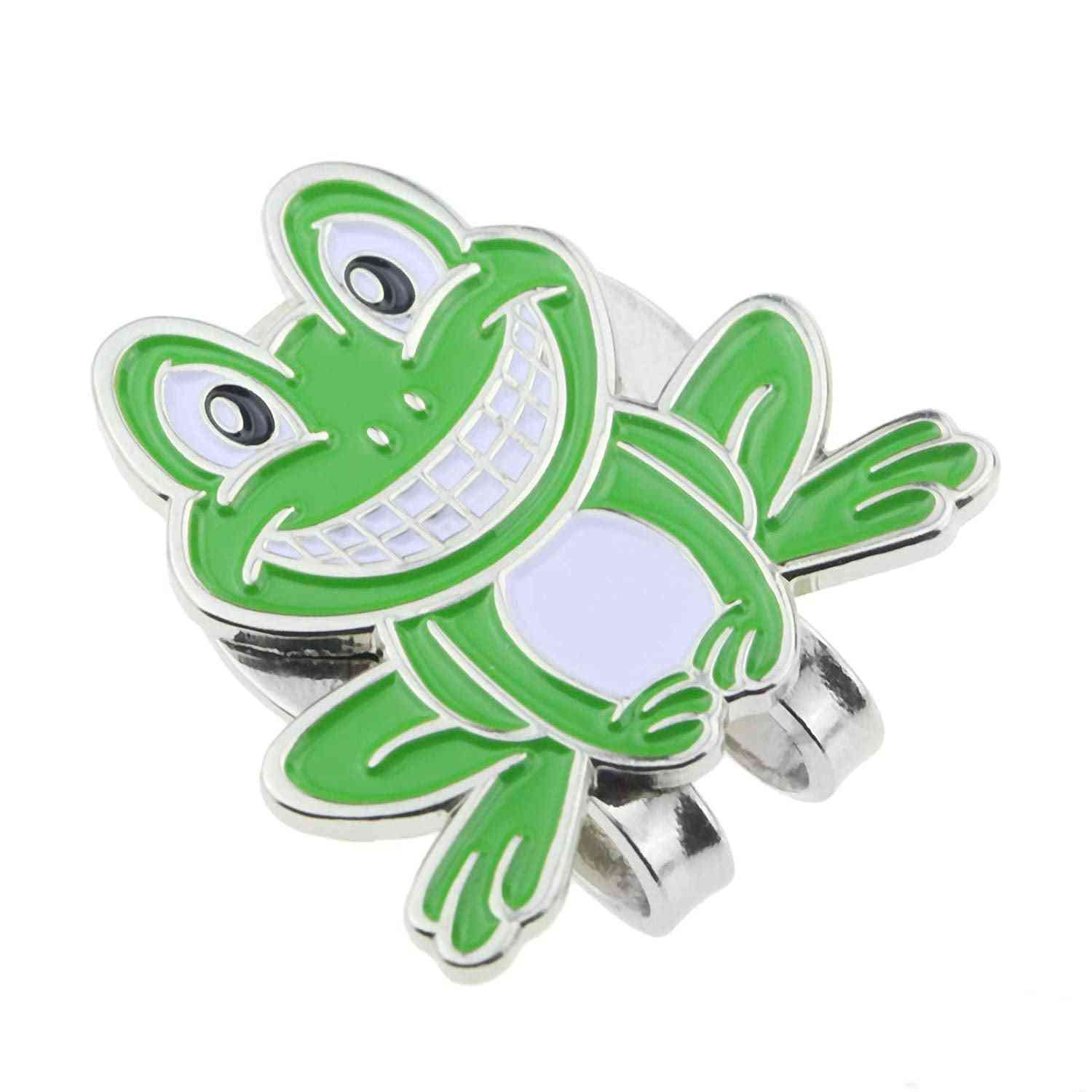 Golf Ball Marker  Smiling Frog Green Mark With Magnetic Cap