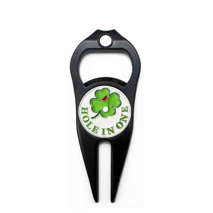 Multifunction  Golf Divot Repair Tool With Ball Marker, Bottle Opener Accessories