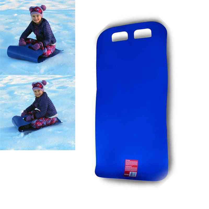 Snow Sled Snow Skiing Carpet Kids Safety Lawn Flying Carpet Winter Snow Portable Foldable Snowboard Flexible Roll Up Snow Sleds