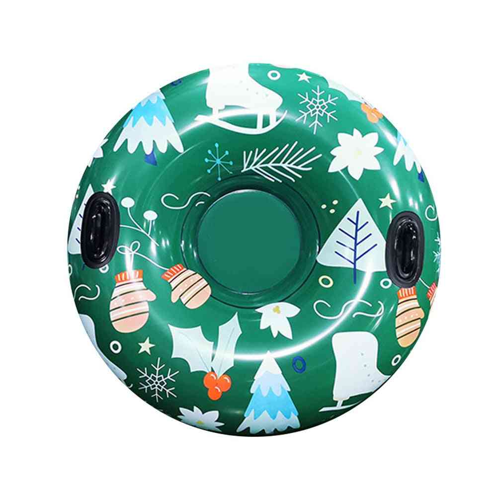 Snow Toy Inflatable Ski Circle, Snow-tube Skiing Thickened Floated Sled