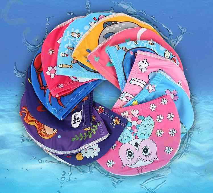 Kids Swimming Cap, Cute Cartoon Fabric Swimming Hats Caps