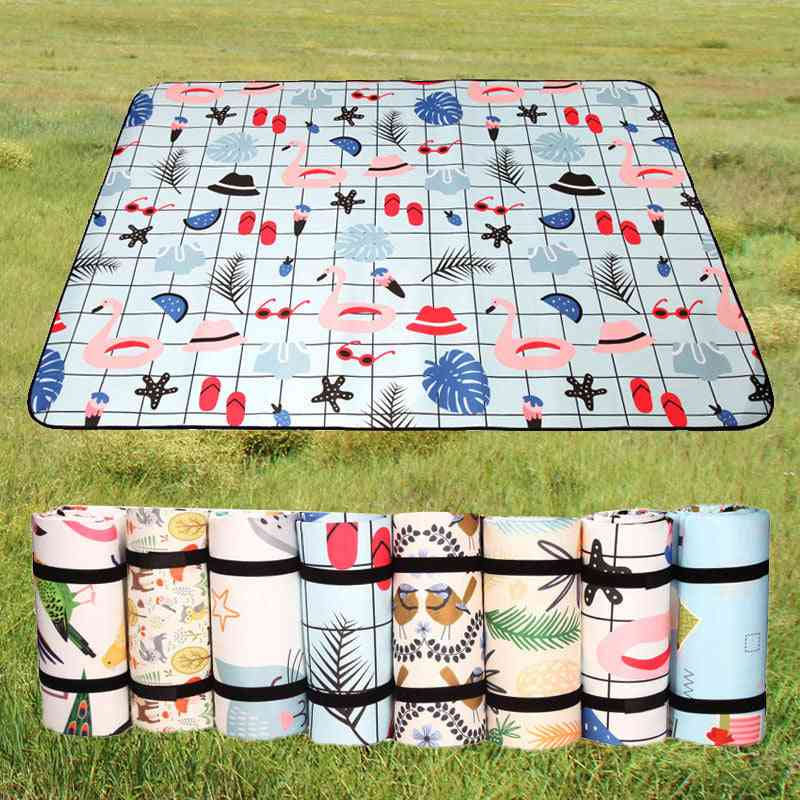 Folding Camping Mat, Waterproof, Thickened Picnic Beach Pad,'s Playing Tent Moisture Proof, Sleeping Blanket