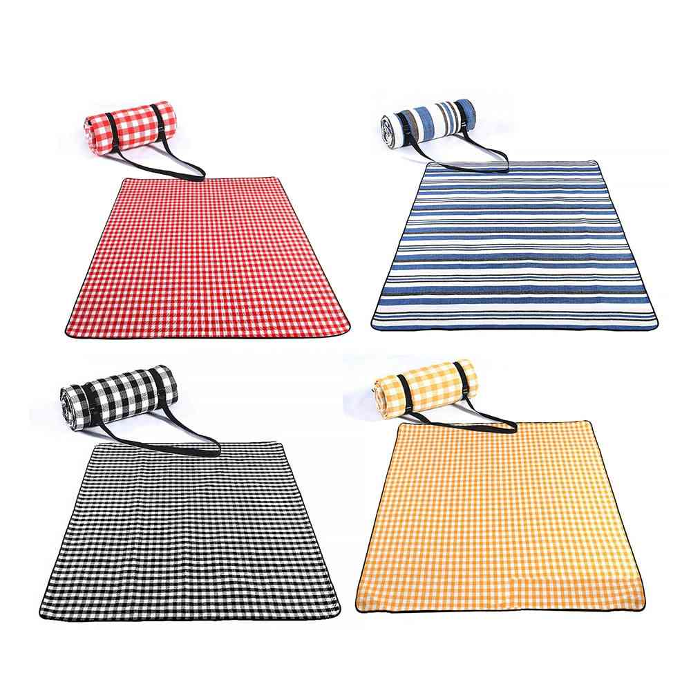 Outdoor Picnic Mat, Water-resistant, Portable, Beach Folding, Camping, Moisture-proof Blanket, Hiking Beach Pad