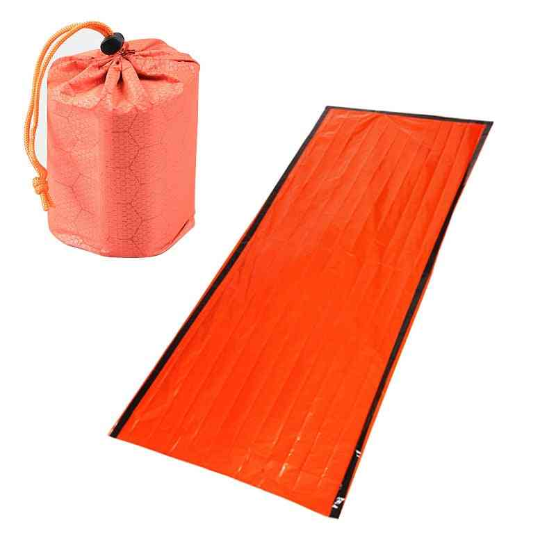 Emergency Sleeping Bag, Emergency First Aid, Pe Aluminum Film Tent For Outdoor Camping And Hiking, Sun Protection