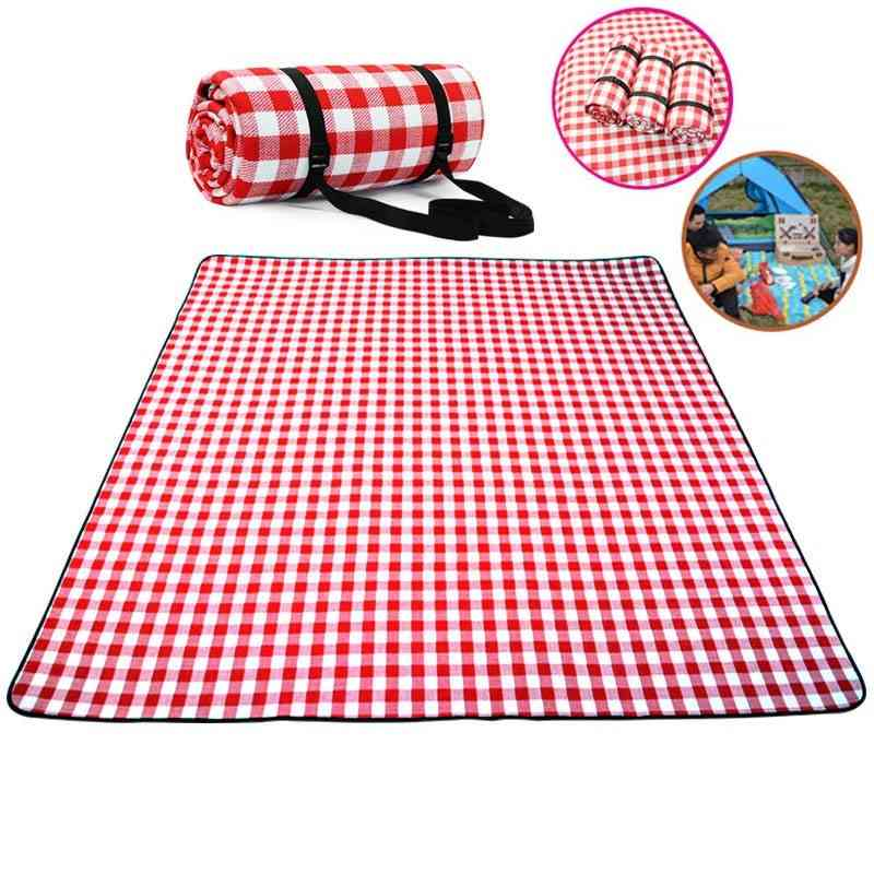 Thicken Pad, Breathable, Soft Blanket For Outdoor Folding, Waterproof Camping Beach Plaid Picnic Mat