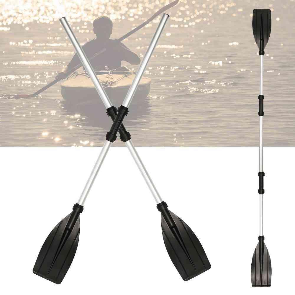 2 Pcs Aluminum Alloy Detachable Float Afloat Oars Fitting Boat Rafting Paddle