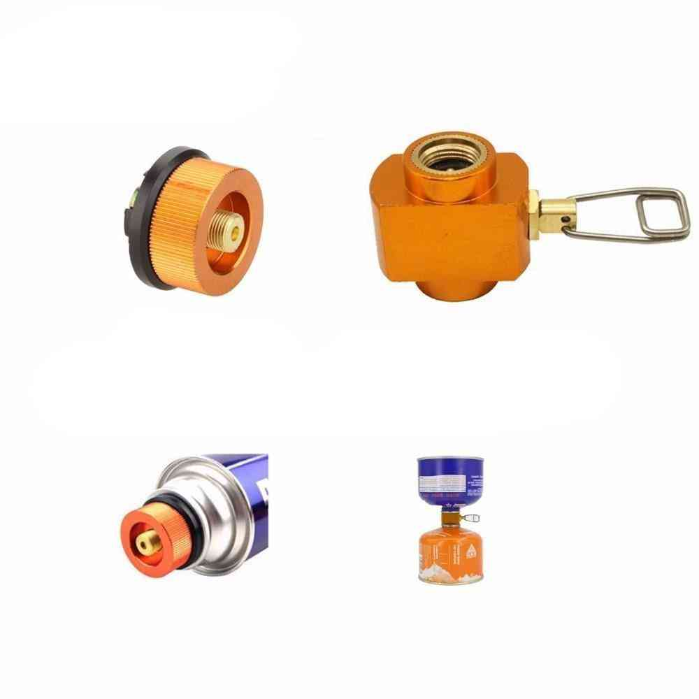 Outdoor Camping Gas Refill Adapter, Stove Cylinder Gas Tank