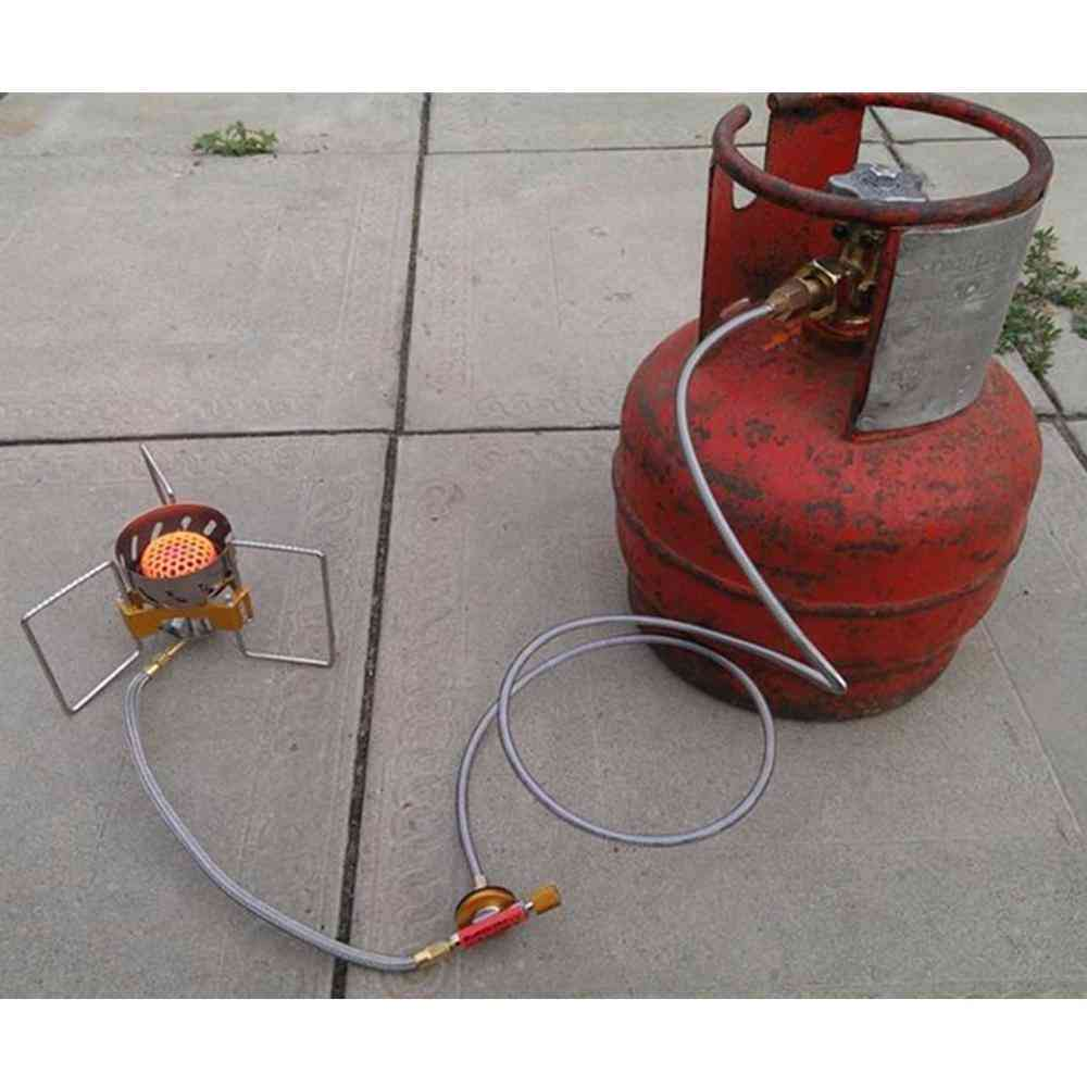 Camping Stove Use Household Lpg Cylinder Gas Tank Head Adapter