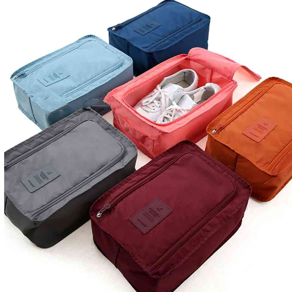 Shoe Storage Bag, Environmental Travel Pouch, Nylon Double Layer, Portable, Organizer Bags, Sorting Pouch, Multifunction