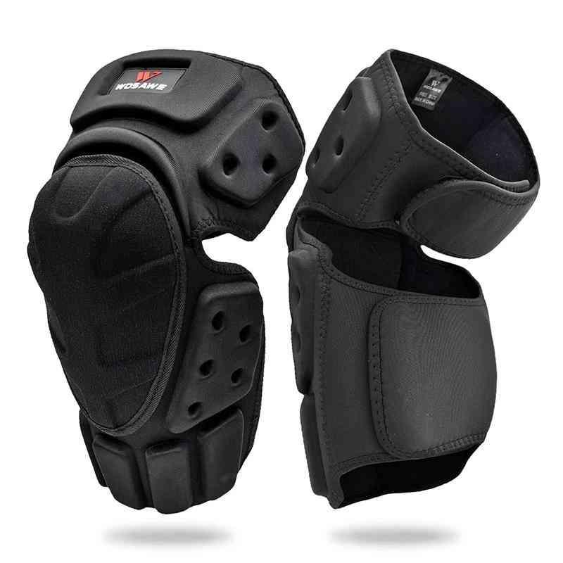 Ski Knee Pads  Black Brace Support
