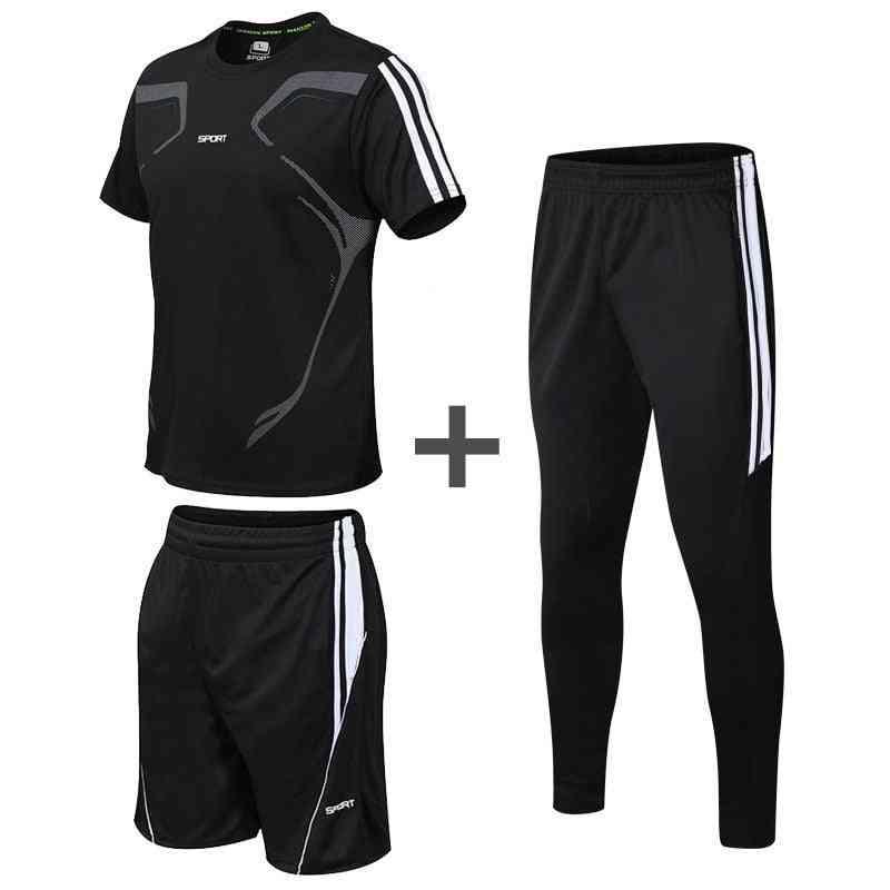 3pc/set Men's Sportswear Shorts T-shirts And Sweatpants