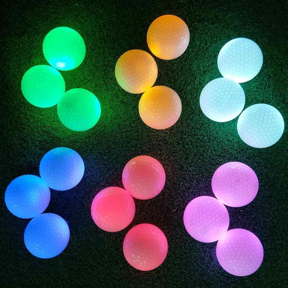 Led Light Golf Ball Permanent Bright Ball On For Night