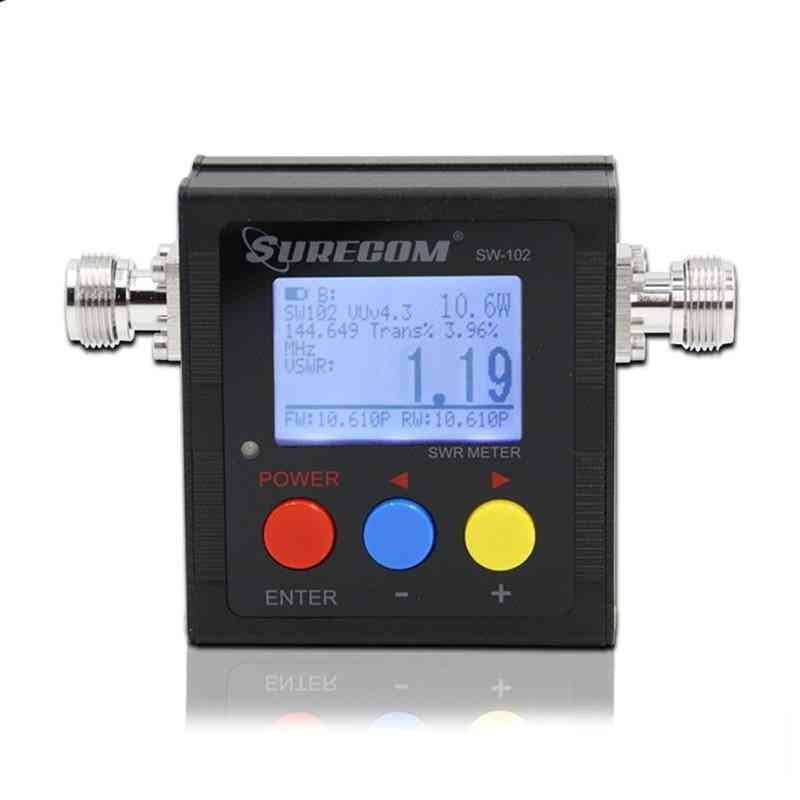 Sw-102 N Type 125-525mhz Vhf / Uhf Antenna Power And Swr Meter