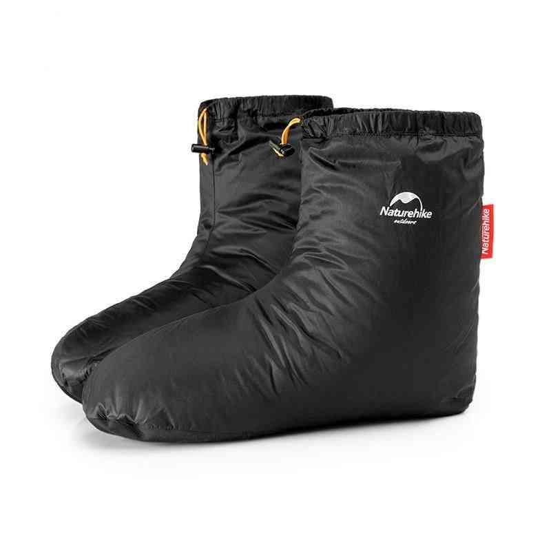 Goose-down Slippers- Indoor Warm, Long Journey, Sleeping Bag Accessories