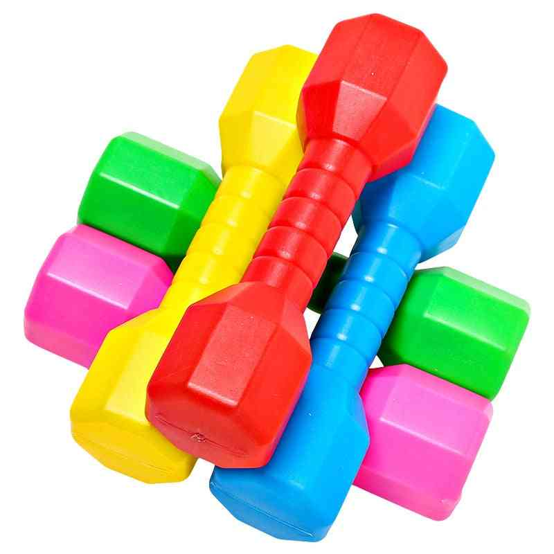 Children Dumbell, Plastic Fitness Equipment Kids Training, Performance Outdoor Dancing Tool, Workout Exercise Colorful Toy