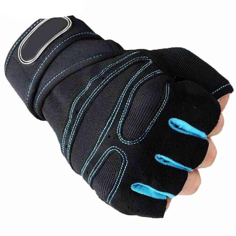 Dumbbell Fitness Gloves, Sports Exercise Half Finger Weight Lifting Gloves