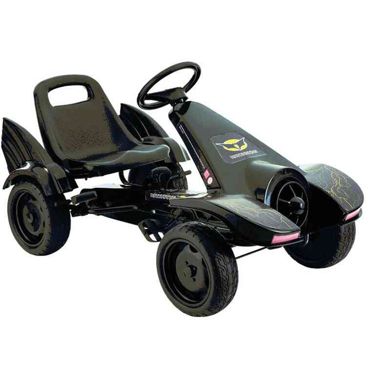 Inflatable Wheel Pedal Powered Ride On, Classic Kids Go Kart With Hand Brake