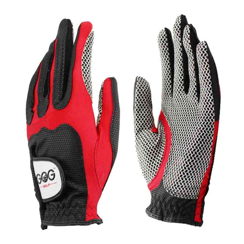 Golf Gloves, Professional Magic Tape, Pu Slip-resistant Design, Breathable Left Hand For Outdoor Sport