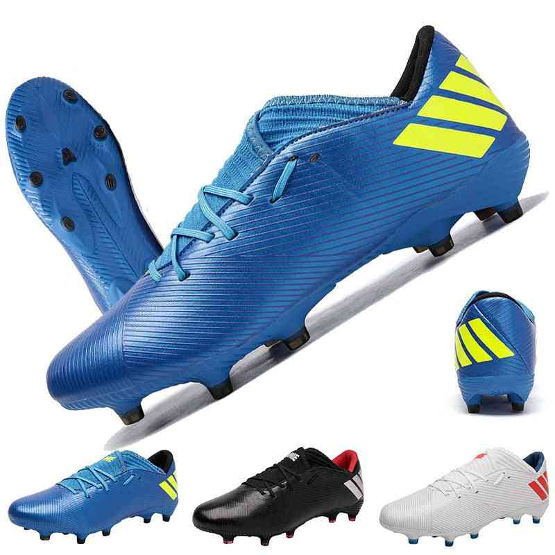High Ankle Soccer Shoes, Men Outdoor High-top, Football Boots, Turf Cleats, Kids Ag Women Soft Football Shoe