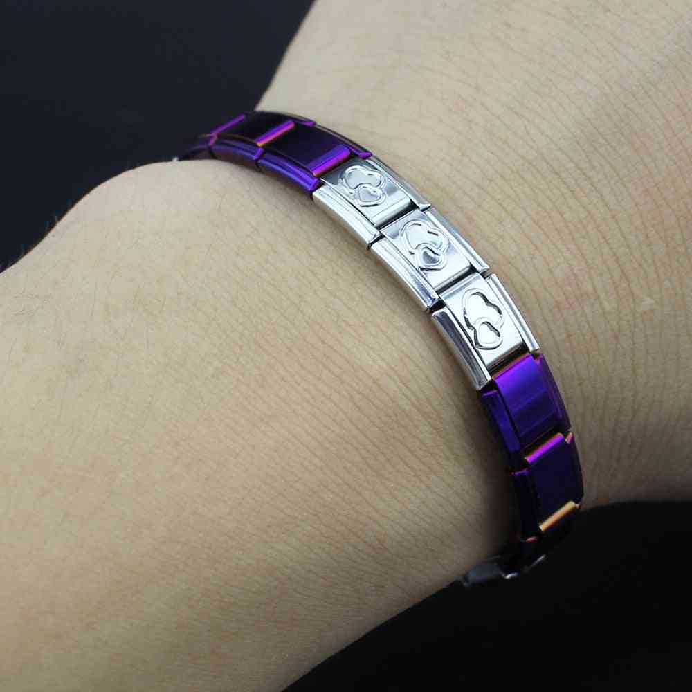 Mixed Color Stainless Steel Bracelet Bangle