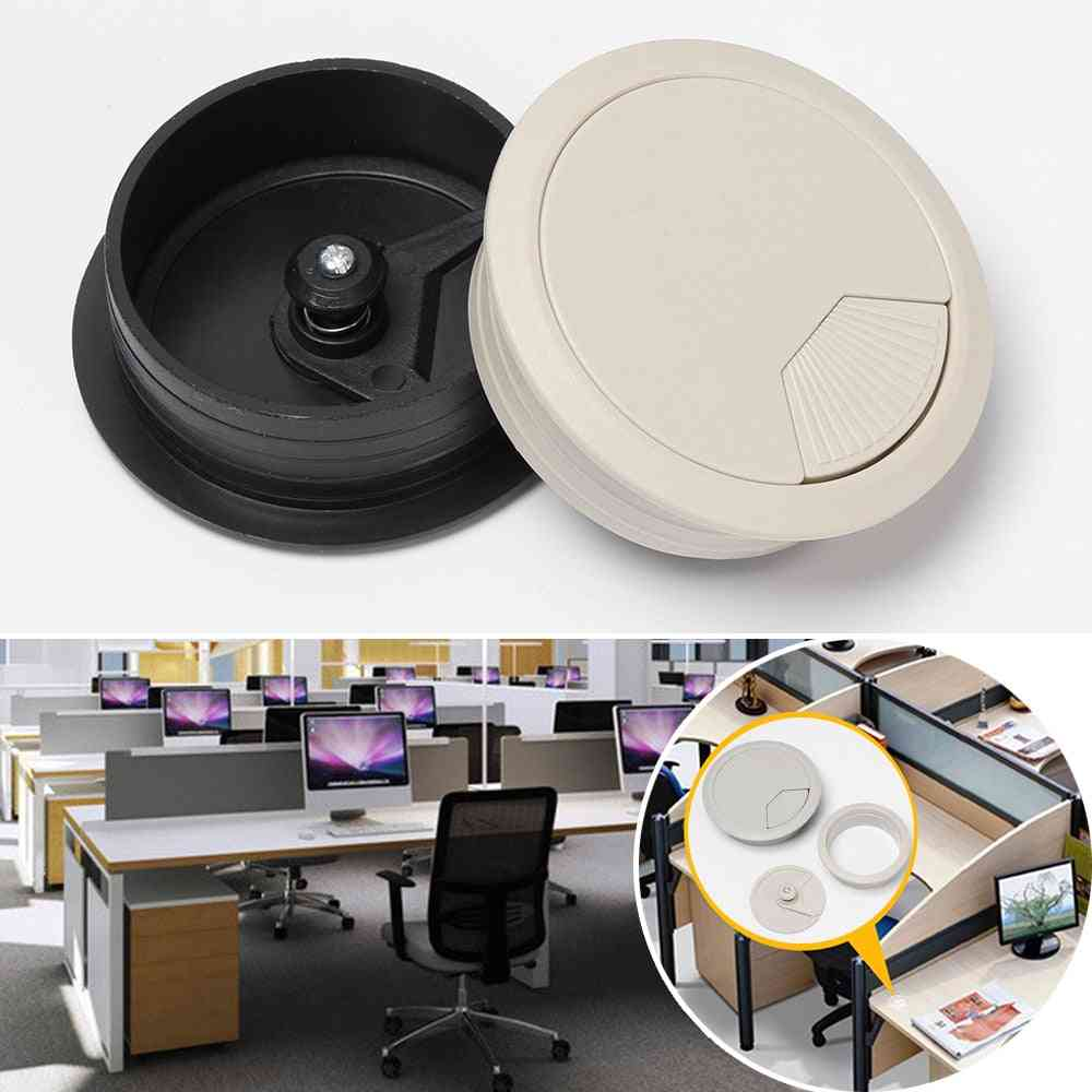 Desk Table Plastic Cable Hole Cover