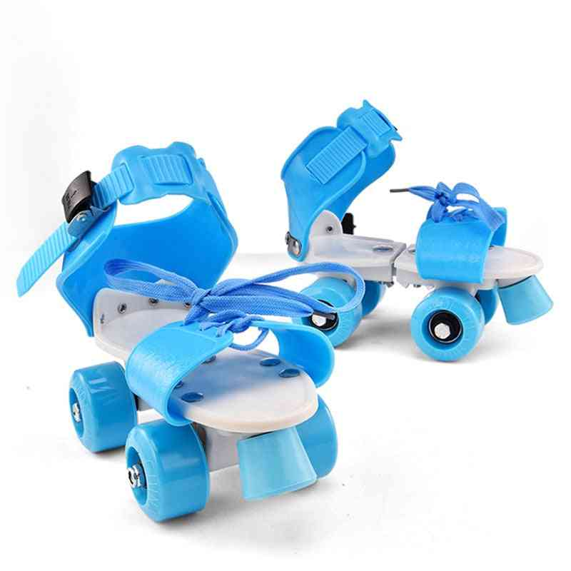 Children Roller, Skates Double Row, Skating Shoes, Kids Sneaker At Home, Cool Roll
