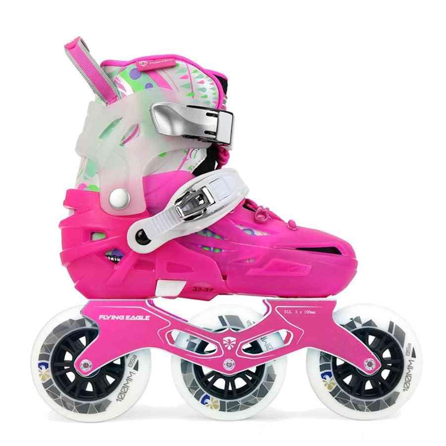 Kid's Speed Inline Skate, Wheels Falcon, Roller Skating Shoe, Street Free