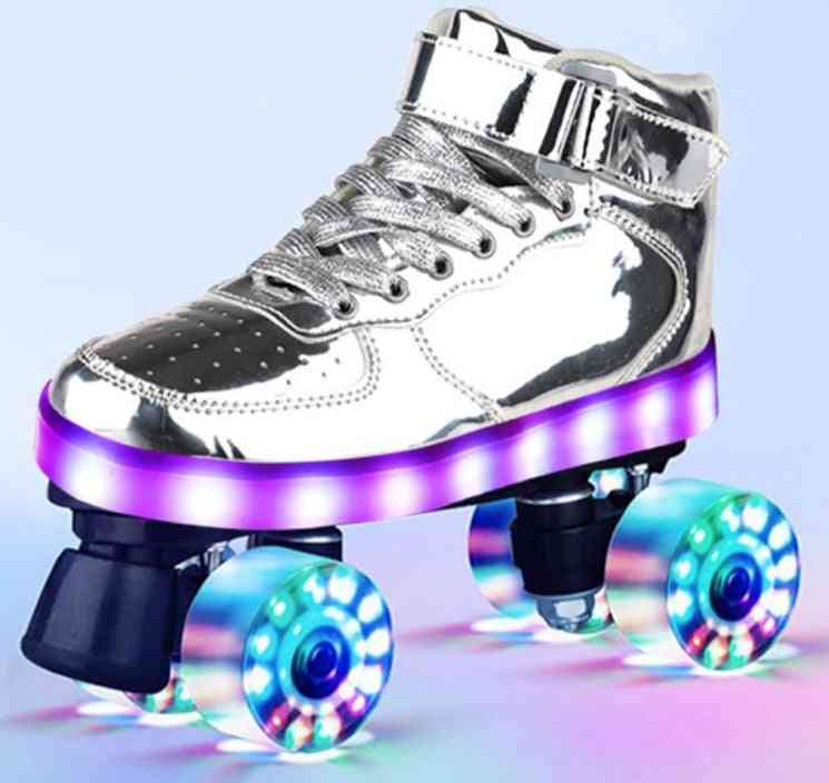 Roller Skates Hockey Double-row Pulley Shoes/women