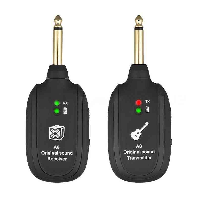 Guitar Wireless System Transmitter Receiver Built-in