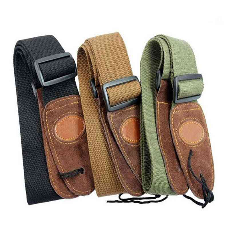 Electric Acoustic Leather Head Guitar Straps