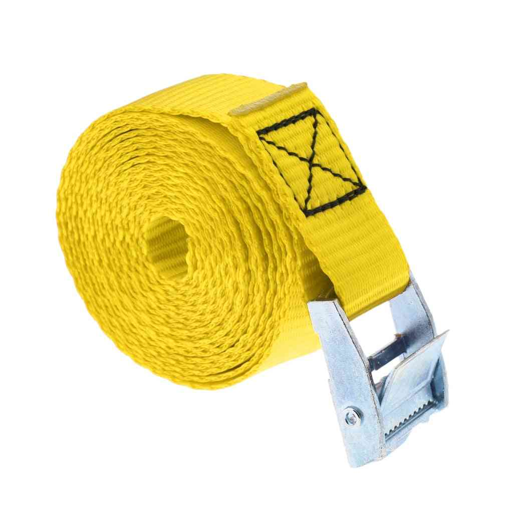 Tie Down Strap With Stainless Steel Buckle For Roof Racks, Surfboard, Kayak, Canoe, Car Cargo Lashing - Various Colors