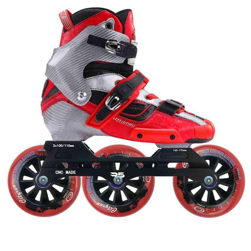 Original Carbon Fiber Inline Speed Roller Skates With Wheels/adult
