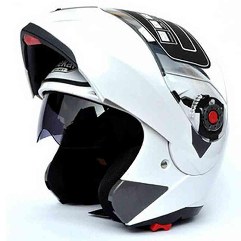 Motorcycle Flip Up Helmet Safety Double Lens Helmet