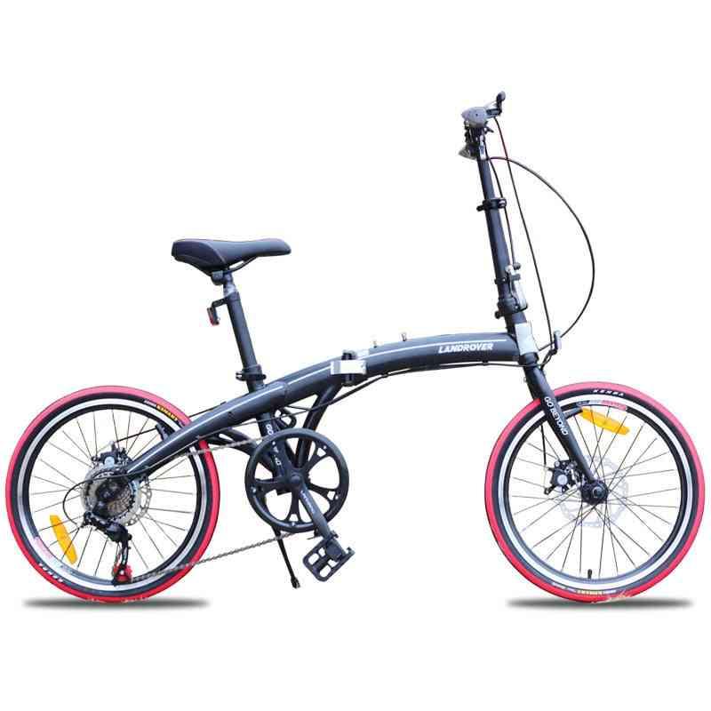 Folding Bike, Back Disc Brake Portable Mini Bicycle