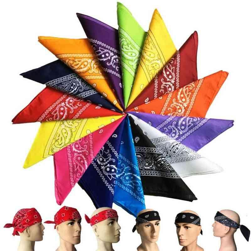 1pcs Small Silk Scarf New Print Handle Bag Ribbons Head Scarf