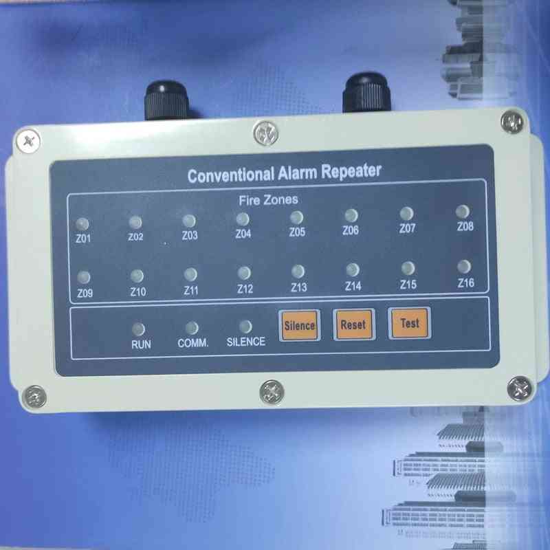 16 Zone Repeat Display Panel Work With Conventional Fire Alarm By Rs485