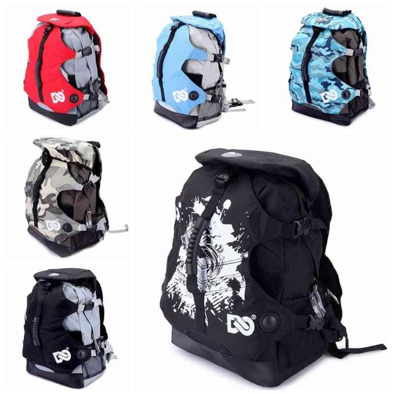Outdoor Inline Skates Backpack Roller, Shoes Carry Rucksack, Skating Boots Knapsack, Double Shoulder Bag