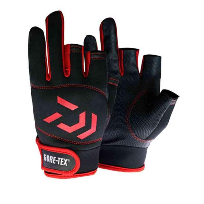 Daiwa Waterproof 3 Cut Finger Fishing Gloves