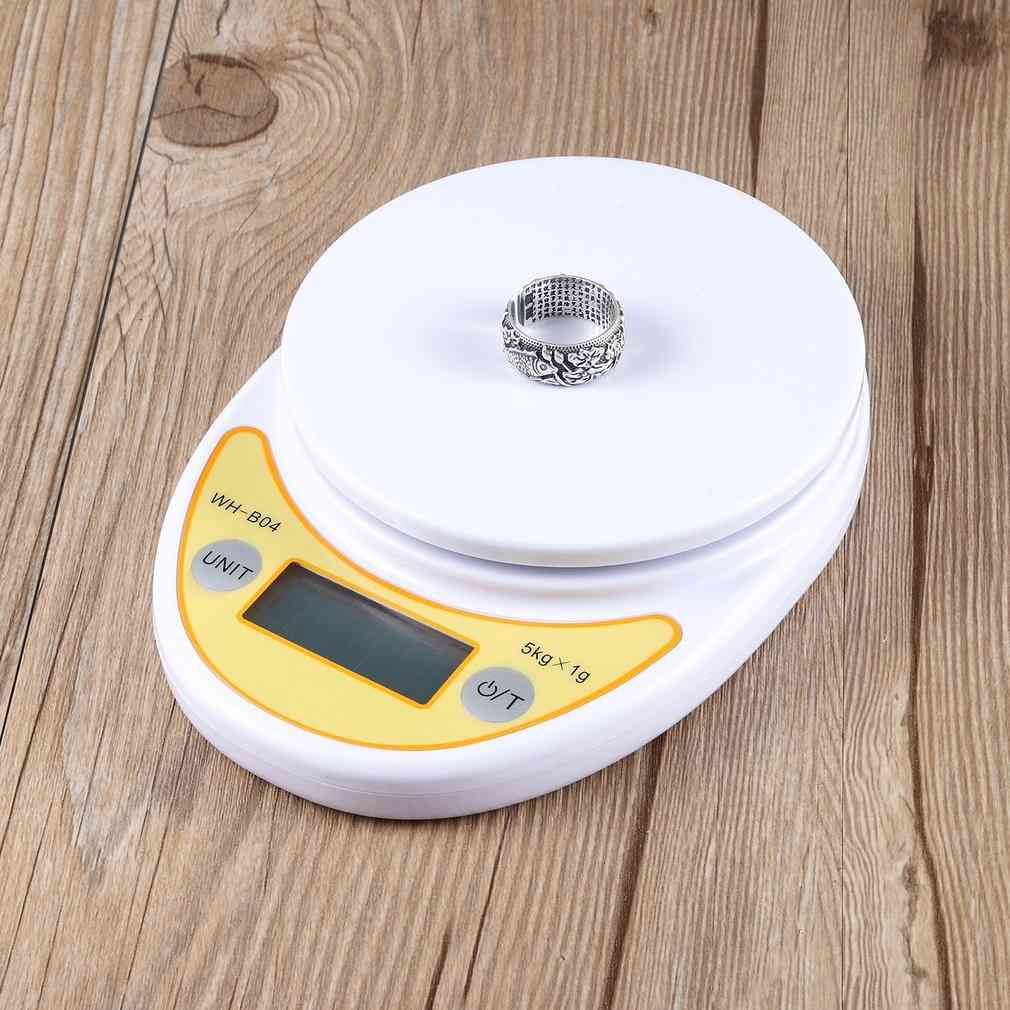 5kg/1g Lcd Display Digital Electronic Weight Home Kitchen Scale For Food Balance Weighing Scales