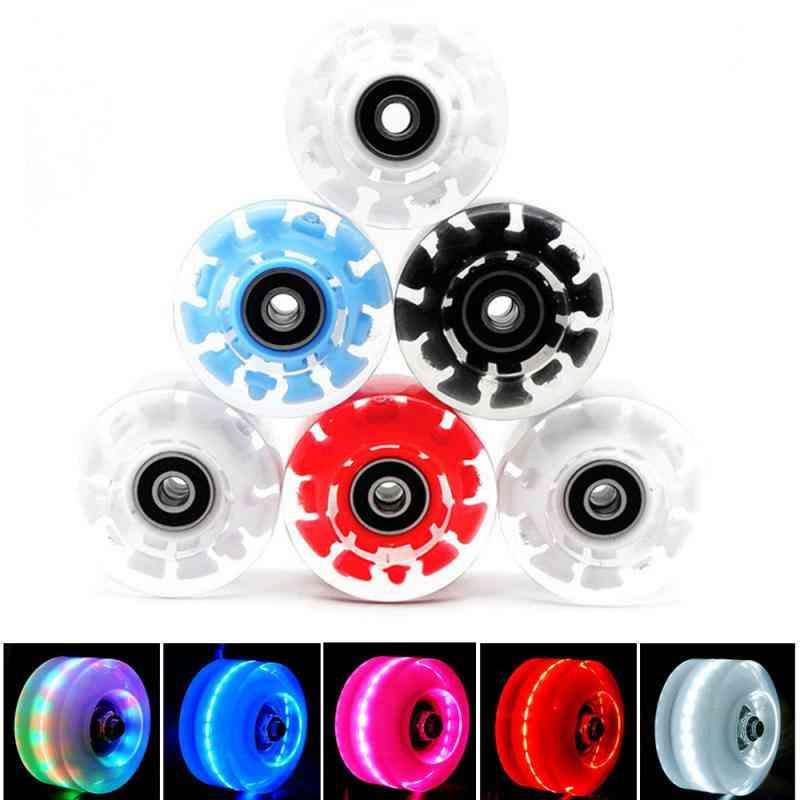 Inline Roller Skate Wheels, Led Sliding Skating, Luminous Light Up, Wheels With Bankroll Bearings Installed