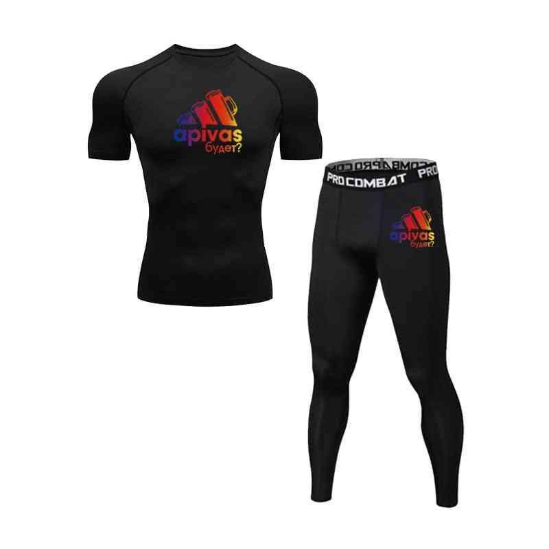 Men's Leisure Outdoor Sports T-shirt, Sweat Wicking Gym Fitness Running Shirts