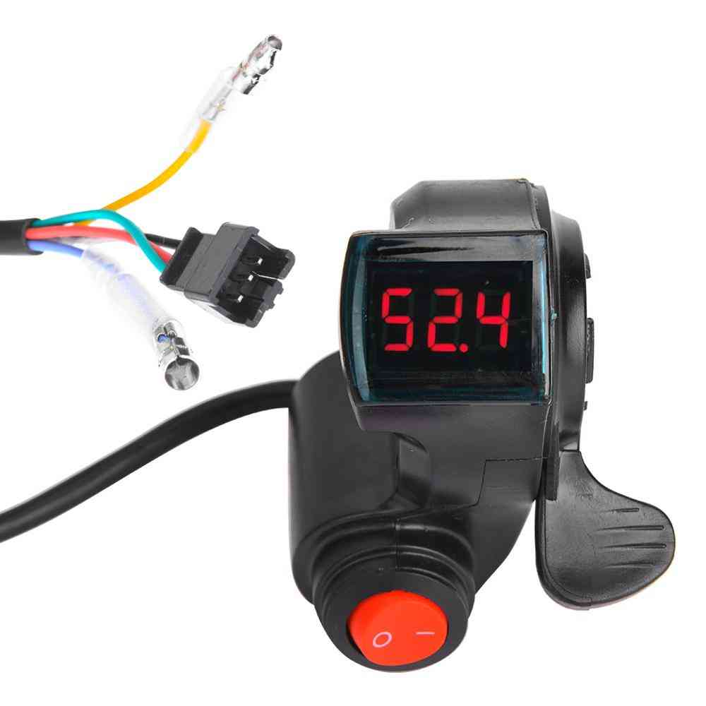E-bike Thumb Throttle Lcd Display, Digital Battery Voltage Power Switch
