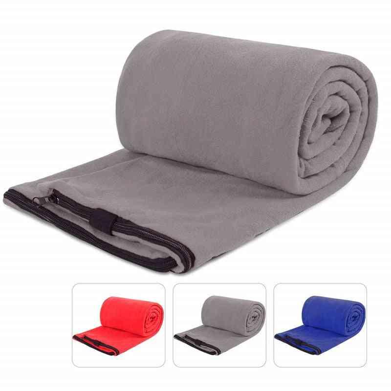 Fleece Sleeping Bag- Liner Microfiber, Outdoor Blanket