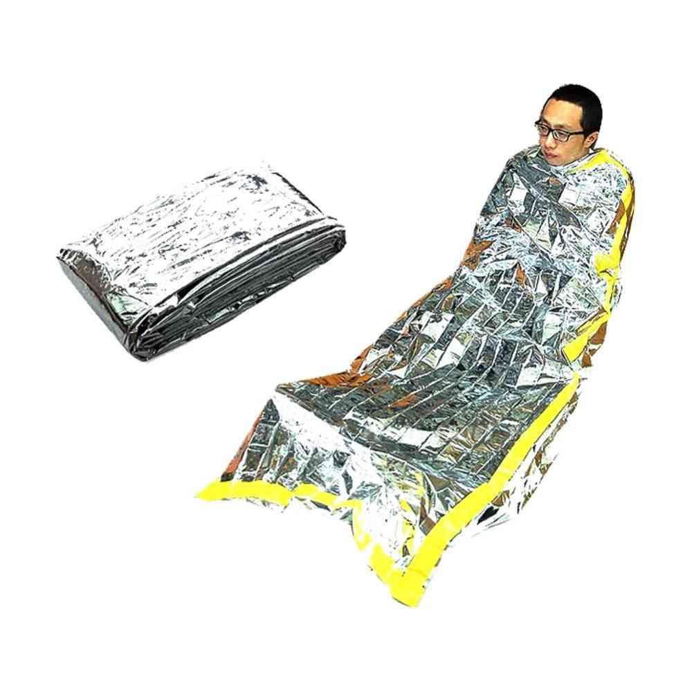 Sleeping Foil- Waterproof Reuse, Thermal Bag For Outdoor Survival Camping