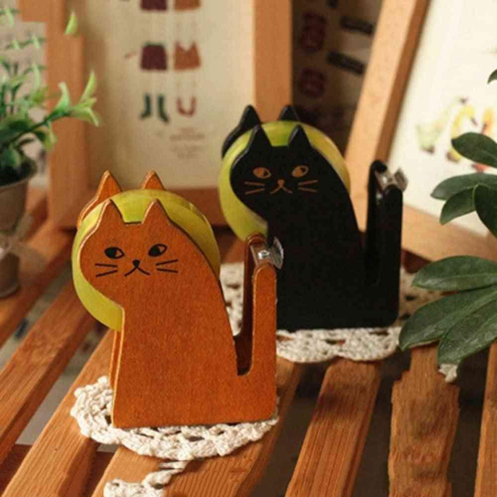 Best Selling Wooden Cute Tape Dispenser Cutter