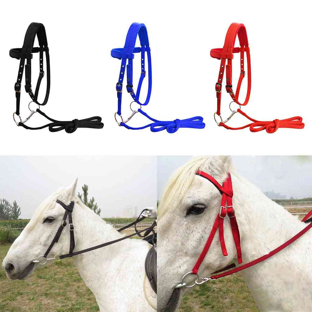 Durable Horse Bridle Horse Rein Headstall Thickened Halter Snaffle