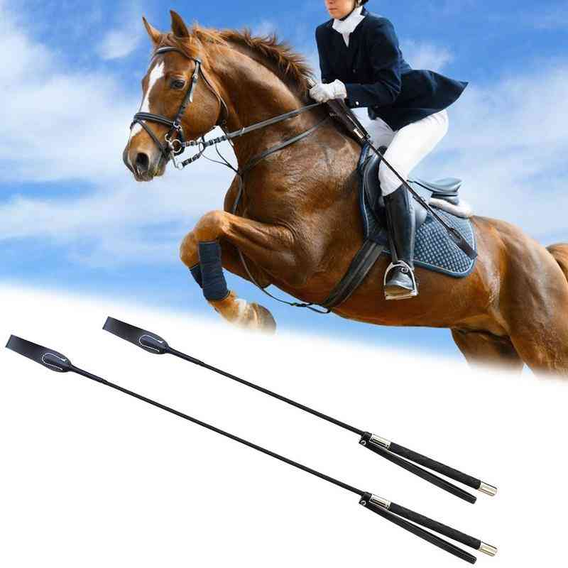 Leather Horsewhips Equestrian Horseback Riding Whips Lash Supplies