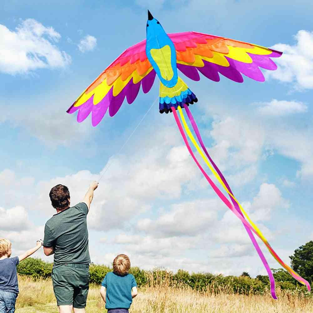 Colorful Single Line Kite, Sports Beach For Kids And Adults, Outdoor Flying With String Handle