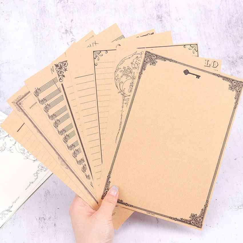 Vintage Letter Paper Stationery, Writing Paper Letter For Kids